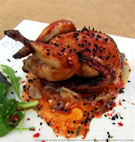 cuisiner un faisan au four cailles rôties au four marinade au miel épices tandoori
