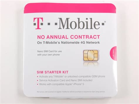 t mobile iphone activation genuine t mobile nano sim card activation kit gsm iphone 5