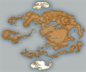 Map of the Avatar world | Avatar: The Last Airbender ...