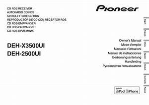 Pioneer Mixtrax Deh X3500ui Wiring Diagram