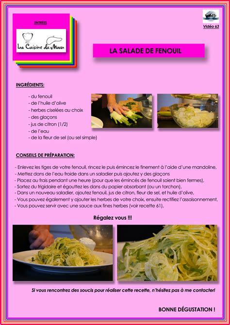 cuisine du fenouil entrées la salade de fenouil la cuisine du moun