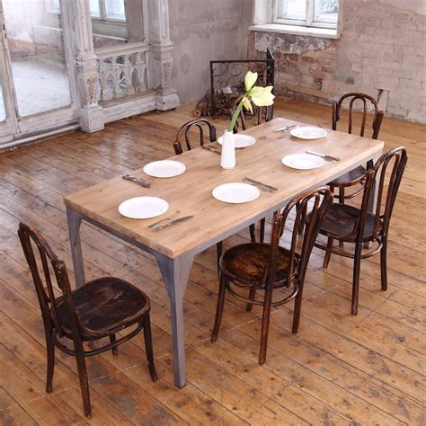 industrial looking dining room tables industrial style contemporary dining table by cosywood