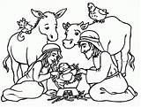 Coloring Jesus Manger Printable Sheet Popular sketch template
