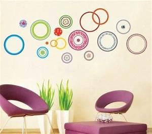 UfingoDecor Cerchi Colorati Adesivi Murali, Camera da Letto Soggiorno Adesivi da Parete