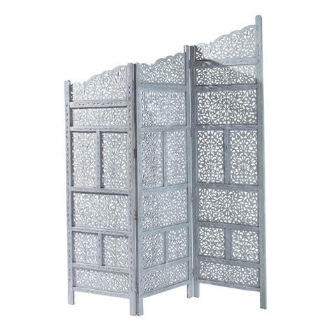 alinea chambre paravent en bois gris l 152 cm rajasthan maisons du monde