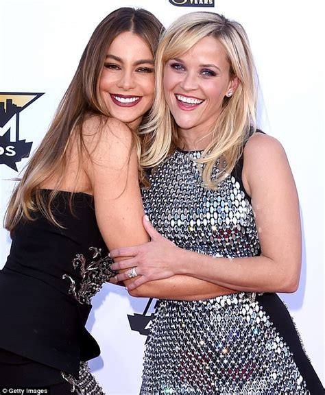 sofia vergara reese witherspoon movie reese witherspoon in florida to promote hot pursuit movie
