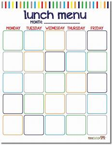 free school lunch calendar printable printables With school lunch calendar template