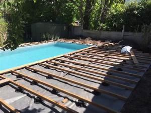 que mettre autour d une piscine stunning que mettre With delightful amenagement autour piscine bois 2 photos panneaux modulaires gabion pour piscines stonefence