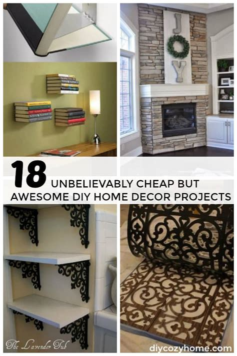 cheap home decor 18 unbelievably cheap but awesome diy home decor projects