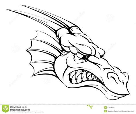 Kleurplaat Tijgerkop by талисман дракона иллюстрация вектора иллюстрации