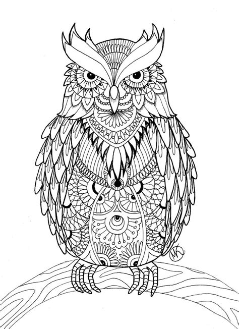 owl coloring pages  adults  detailed owl coloring
