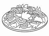 Salad Template sketch template