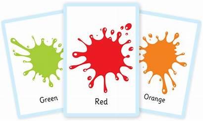 Flashcards Colour Colours Alphabet Printable