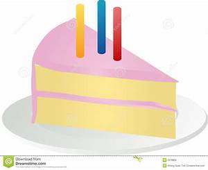 Slice of birthday cake stock vector. Image of delicious ...