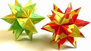 Origami Stern Falten Einfach : modulares origami bascetta stern falten bascetta star youtube ~ Watch28wear.com Haus und Dekorationen