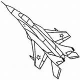 Coloring Fighter Aircraft sketch template