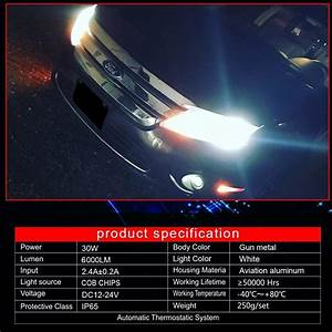 Turbosii Dot Approved H8 H9 H11 H16jp 6000lm Led Headlight