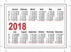 Mřížka Kapesní kalendář 2018 — Stock Vektor © orensila