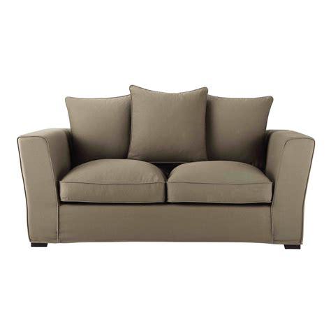 teindre un canapé en tissu non déhoussable canapé 2 3 places en tissu taupe balthazar maisons du monde