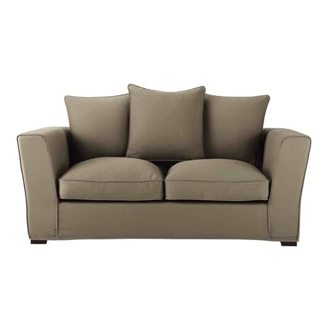 canapé 2 places en tissu canapé 2 3 places en tissu taupe balthazar maisons du monde