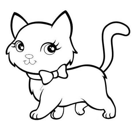 gambar mewarna kucing gambar mewarnai hewan