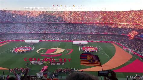 FC Barcelona Valencia CF Así sonó el himno de España en