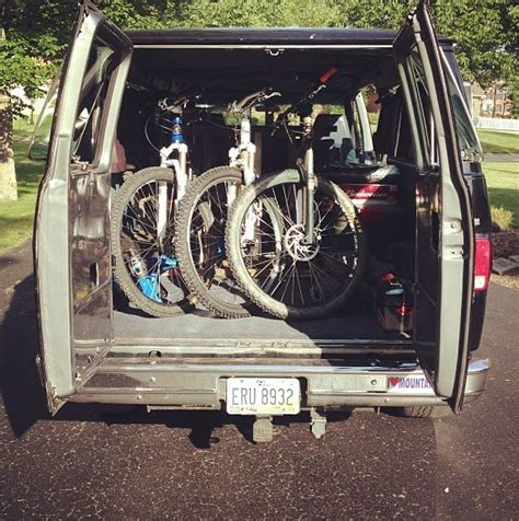 bike rack for minivan diy or purchased item to transport bike s in w o
