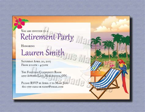printable retirement party invitations templates