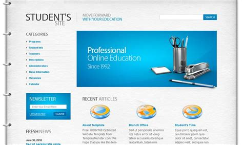 Top 10 School Website Templates by Top 10 Useful Web Design Tricks And Free Templates For