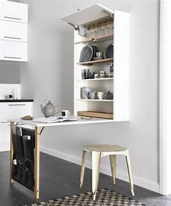 Table Pliante De Cuisine : la table de cuisine pliante 50 id es pour sauver d 39 espace cuisine pinterest ~ Teatrodelosmanantiales.com Idées de Décoration