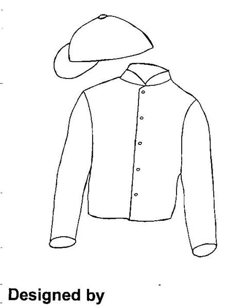Jockey Silk Colouring Pages