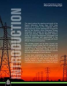Report of Emerging Renewable Energy Companies to Nigeria ...