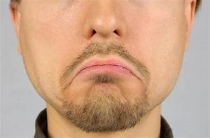 Men's Lips Corners Down, Sad, Closeup Stock Photo - Image ...