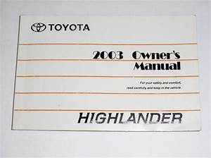 2003 Toyota Highlander Owners Manual Pdf
