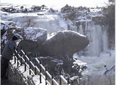Paterson's Great Falls Nearly Frozen Over [Video] Wayne