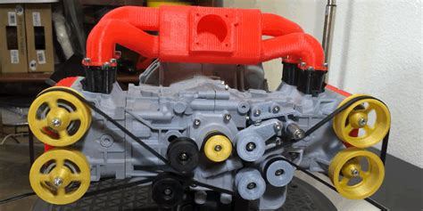 printed  mini subaru engine   lovely