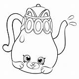 Coloring Shopkins Teapot Shopkin Season Colorir Desenhos Petkins Pot Tea Dos Hopkins Dibujos Printable Cartoon Coloriage Tetera Linda Lol Colouring sketch template