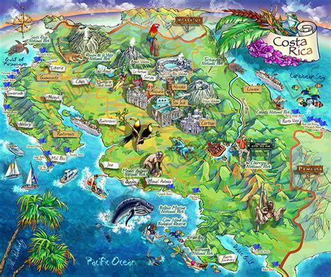 Costa Rica Sehenswürdigkeiten Karte