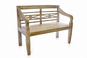 Gartenbank Holz 2 Sitzer : divero 2 sitzer holzbank teak massiv holz gartenbank parkbank 115cm white wash kaufen bei ~ Bigdaddyawards.com Haus und Dekorationen