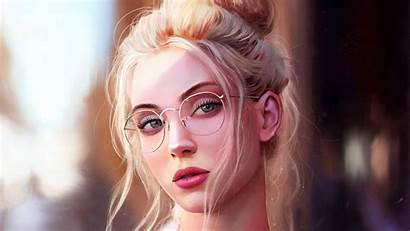 Portrait 4k Glasses Artistic Wallpapers Artist 1160