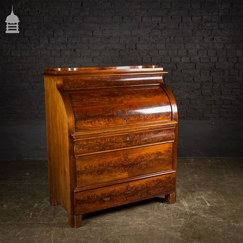 secretaire baise bureau 19th c continental mahogany bureau secretaire with
