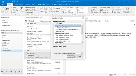 Office 365 Outlook Folders by Use Search Folders In Outlook And Lesson