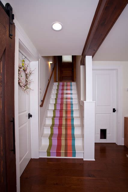 fancy painted stair runners ideas