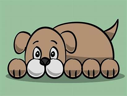 Dog Cartoon Simple Draw Easy Drawing Clipart