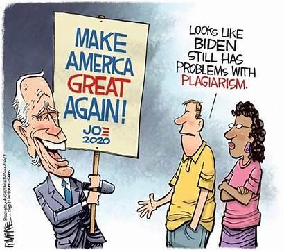 Biden Plagiarism Cartoons Political Trump Mckee Rick