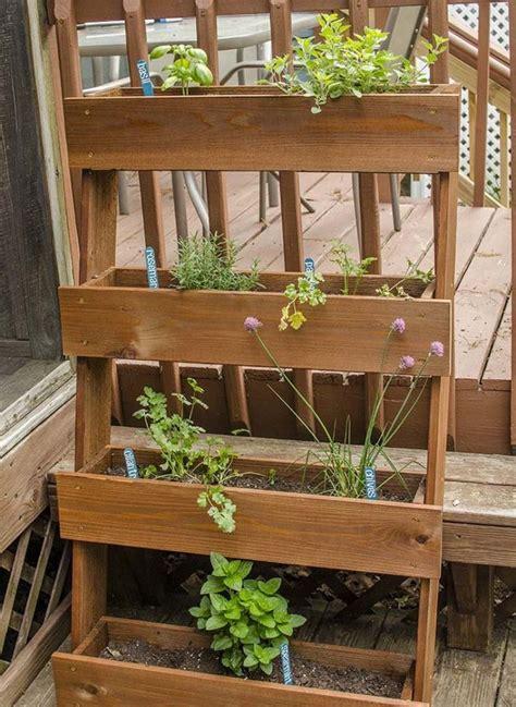 vertical wooden box planter  owner builder network
