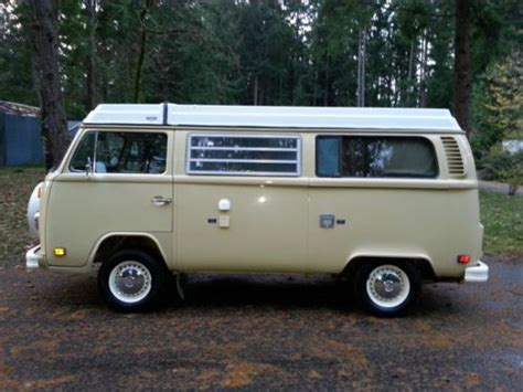 volkswagen westfalia cer buy used 1978 vw westfalia deluxe bus pop top camper van 2