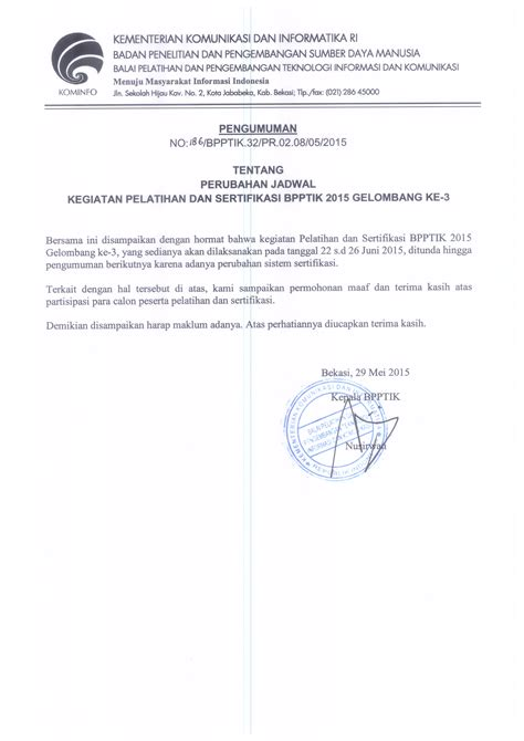 Contoh Surat Keterangan Akreditasi Kus by Contoh Surat Permohonan Calon Peserta Ujian Ppat Surat 0