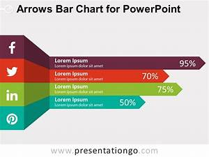 Free Arrows Bar Chart For Powerpoint