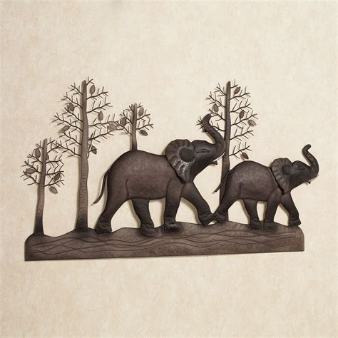 Elephant Wall Decor by Elephant Metal Wall Art